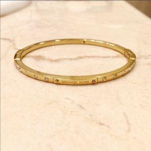 Michael Kors thin gold bracelet